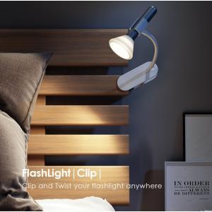 LED充電式ライト FlashLight Clip set フラッシュライトスタンドクリップセット 非常時 インテリアにも使える|safety-toilet