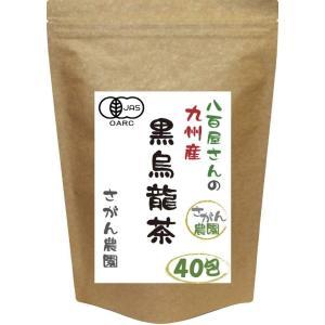 お徳用 黒烏龍茶 国産 有機栽培 ティーパック 2.5g×40包 健康茶さがん農園