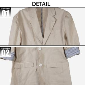 テーラードジャケット メンズ 7分袖 フォーマル テーラードジャケット サマージャケット メンズ ビジネス  M L LL XL saganstyle 17