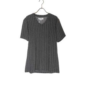 【送料無料】メンズ 男性 膨れランダムストライプVネックTシャツ カットソー トップス 半袖 モード キレイめ 大人カッコイイ かっこいい オシャレ おしゃれ|saganstyle|10
