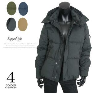 【送料無料】リアルダウン ダウンジャケット メンズ ダウンコート フード付き 真冬 オシャレ|saganstyle