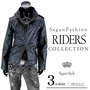 ◆説明:メンズ新作前身Wジップで重ね着しやすいシングルライダースジャケットは軽くて使いやすいPUレザ...