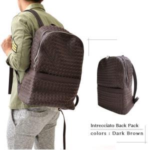 編み込みバックパック メンズバッグ ユニセックス かばん 鞄 カジュアル 大人仕様 リュックサック デイパック イントレチャート メッシュ ビジネスリュック|saganstyle|12