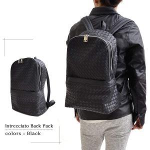 編み込みバックパック メンズバッグ ユニセックス かばん 鞄 カジュアル 大人仕様 リュックサック デイパック イントレチャート メッシュ ビジネスリュック|saganstyle|10