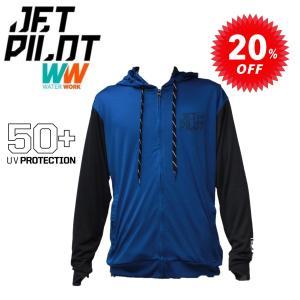 ジェットパイロット JETPILOT ラッシュガード フード パーカー 30%オフ 送料無料 ショータイム メンズ ラッシュフーディー 長袖 W18829 SUP マリンスポーツ|sagara-net-marine