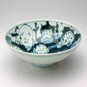 有田焼 手描き七福神大茶碗