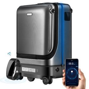 電動ウォーキングスーツケースは、持ち主の歩行速度を感知して、適度な速度・距離感で自動追尾します。  ...