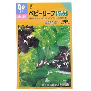 ベビーリーフの種 レタスミックス 小袋 ( 野菜の種 )