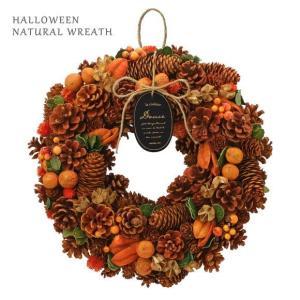 ハロウィン ナチュラルリース 35cm オータムオレンジ 415 アレンジメント 飾り 店舗 室内装飾 かわいい おしゃれ 秋リース