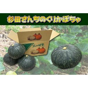 D-3 美深町産: 杉田さんちのくりかぼちゃ(栗ゆたか) 3〜4玉入・約4kg前後・1箱|saijo