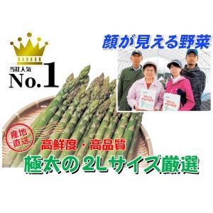 A-1 風連産:リリー・ファーム直送品 藤垣さんちのグリーンアスパラ 2Lサイズ・約1kg入・1箱|saijo