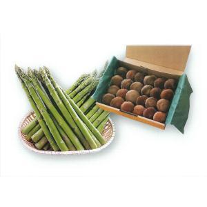 【E-5】下川町産:アグリトライビジネス×しもかわしいたけふぁ〜む グリーンアスパラ+生椎茸(菌床栽培)セット  1箱|saijo