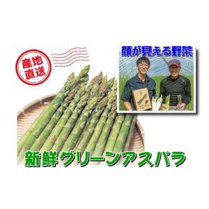 A-8 士別産:おがた農園直送品 おがたさんちのグリーンアスパラ 2L〜Lサイズ込・約1kg入・1箱|saijo