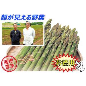 C-1 下川町産:アグリトライビジネス直送品 グリーンアスパラ 2Lサイズ・約1kg入・1箱 saijo