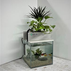 せせらぎ室内ビオトープ 25型15L水槽セット 金魚の水槽にピッタリ インテリアにも最適|saijyou-teien