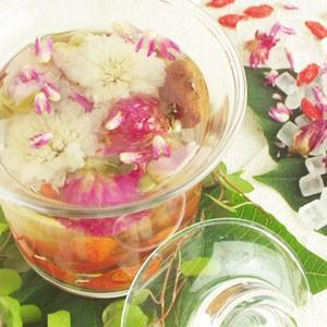 花茶 紅八宝茶5包 フラワーティー お花 センニチコウ クコの実 ナツメ|saika