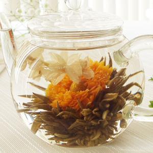 工芸茶 金盞飄香5個 お茶 中国茶 お花 送料無料 キンセンカ 緑茶 茶葉
