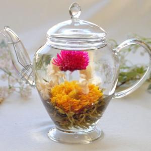 工芸茶 カレンデュラ5個 お茶 花茶 緑茶 中国茶 お花 ジャスミン 千日紅 センニチコウ