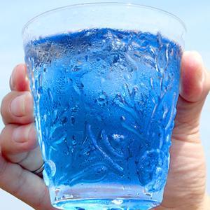 青いお茶 バタフライピー  色が変わる アンチャン ハーブティー 蝶豆花茶 自由研究 バタフライピーティー|saika