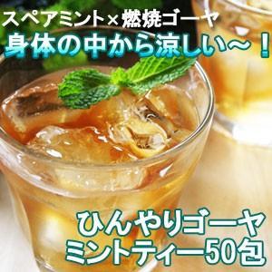 ひんやりゴーヤミントティー30包 ゴーヤ茶 スペアミント アイスティー|saika