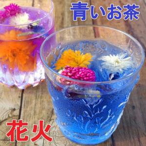 花火・バタフライピー6包 青いお茶 アンチャン ハーブティー 蝶豆花茶 自由研究|saika
