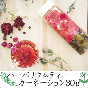 ハーバリウムティー・カーネーション30g 飲めるハーバリウム 植物標本 ドライフラワー インテリア 花 お茶|saika