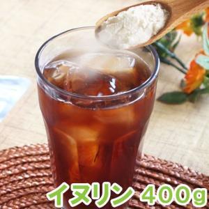 イヌリン400g 粉末 食物繊維 原料 ダイエット 水溶性 チコリイヌリア すぐ溶ける|saika
