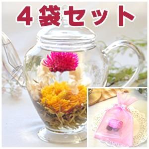 プチギフト 工芸茶  お花のつぼみのプチギフト4袋セット|saika