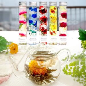 誕生日 ギフト お花のつぼみとプリンセスティーポット カーネーション茶  工芸茶  結婚祝い|saika