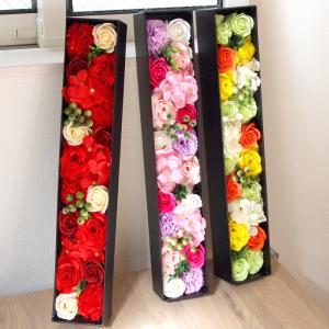 ソープフラワー ボックス ギフト ブーケ シャボンフラワー バラ カーネーション 母の日2019 母の日プレゼント 母の日ギフト 誕生日 アレンジメント 造花 花