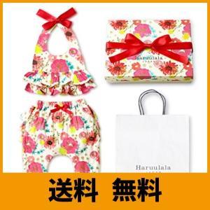 Haruulala Japan(ハルウララ) 出産祝い 女の子 オーガニックベビー服2点セット (スタイ+パンツ) (長袖_紙袋付き, 愛の詩)|saikuron-com