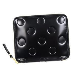 コムデギャルソン COMME des GARCONS 二つ折り財布 ドットエンボスブラック SA2100NE