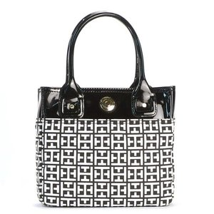 TOMMY HILFIGER トミーヒルフィガー トートバッグ SMALL TOTE ブラック|sail-brand