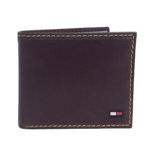 TOMMY HILFIGER トミーヒルフィガー 二つ折り財布 31TL25X014 200 ブラウン|sail-brand