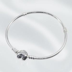 PANDORA パンドラ ブレスレット Moments Silver Bracelet with Heart Clasp 590719-18 sail-brand