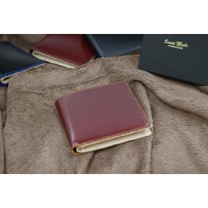 コードバン(馬尻革)×本ヌメ革 カード札入れ二つ折り財布(小銭入れ無し)/札入れ メンズ|saint