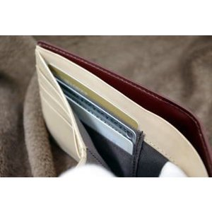コードバン(馬尻革)×本ヌメ革 カード札入れ二つ折り財布(小銭入れ無し)/札入れ メンズ|saint|05
