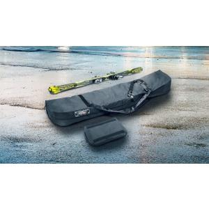 スキーとポールを4セットまで入れられるスキーバッグです。ルーフボックスや室内に収納するのに便利。バッ...