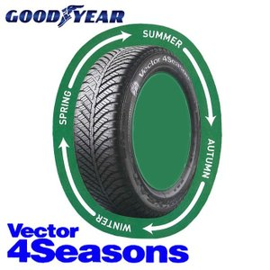 ■旧モデル グッドイヤー ベクター4シーズンズ 155/65R14 1本 /vect-r14 ベクターフォーシーズンズ 取寄せ品|sair