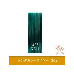 #26 KE-1 ケンタカラーワイヤー ダークグリーン 0.45mm×30m|saitayo
