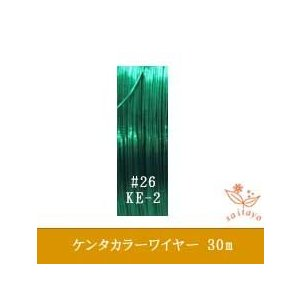 #26 KE-2 ケンタカラーワイヤー グリーン 0.45mm×30m|saitayo