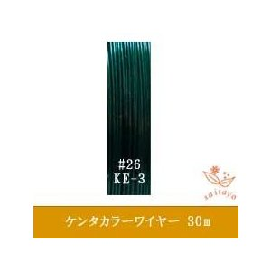 #26 KE-3 ケンタカラーワイヤー 濃緑 0.45mm×30m|saitayo