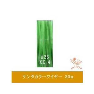 #26 KE-4 ケンタカラーワイヤー 豆色 0.45mm×30m|saitayo