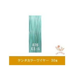 #26 KE-5 ケンタカラーワイヤー ミントグリーン 0.45mm×30m|saitayo