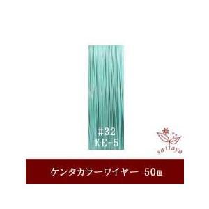 #32 KE-5 ケンタカラーワイヤー ミントグリーン 0.23mm×50m|saitayo