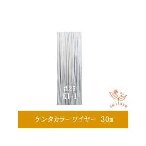 #26 KI-1 ケンタカラーワイヤー 白〜グレー 0.45mm×30m|saitayo