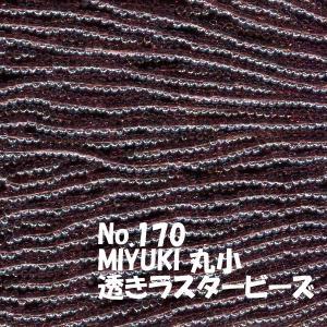 MIYUKI 丸小 糸通しビーズ ms170 透きラスター紫 saitayo
