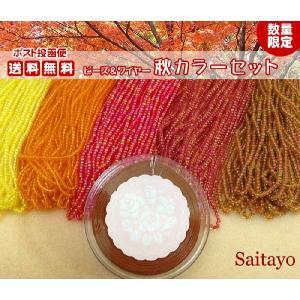 秋色のビーズ&ワイヤーセット saitayo