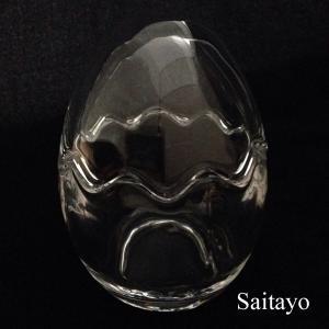 ガラスのたまご型カップ 大 (花器やテラリウムの容器、小物入れなど) saitayo 04