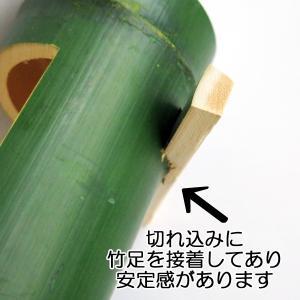 本物竹 筒形花器 /緑竹|saitayo|03